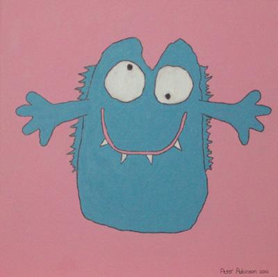 Dilbert Blue painting