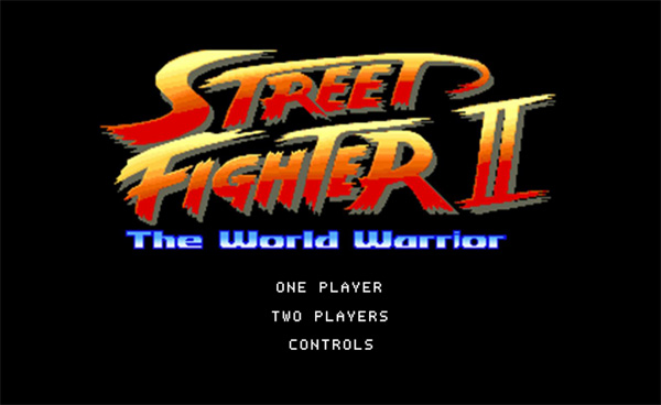 Street Fighter 2 title screen