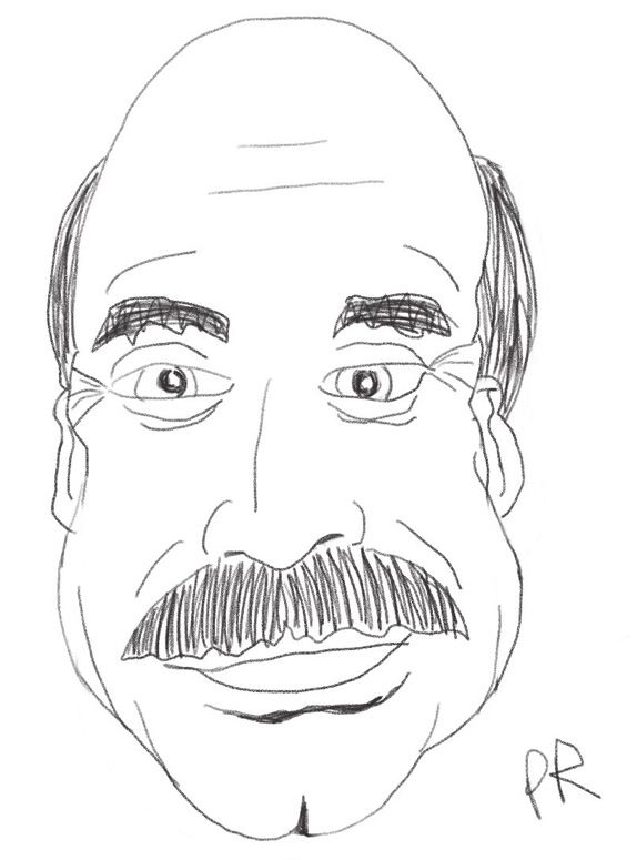 An illustration of Dr Phil done on an iPad Pro
